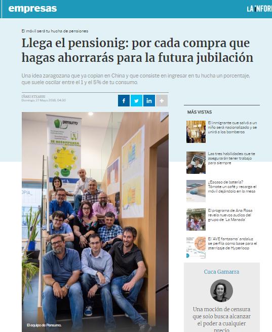 Amplios reportajes sobre Pensumo en 'El Economista' y en 'La Información'